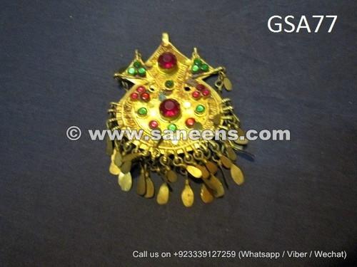 kuchi artwork handmade vintage pendant