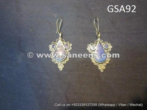 kuchi fashion vintage earrings pair