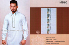 Pakistani Kurta In White Color Muslimah Fashion Dress With Tape Work