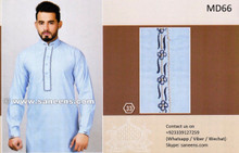 Pakistani Clothes Muslimah Fashion Dress In Light Blue Color