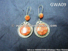 afghan vintage artwork earrings online