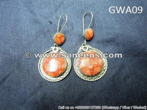 afghan vintage artwork earrings online