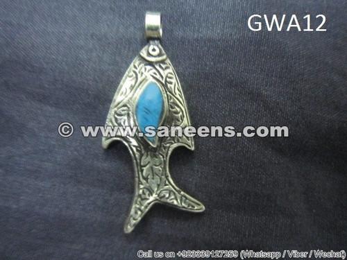 afghan nomad tribal pendant, kuchi jewellery locket