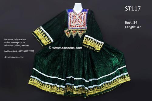 afghan clothes, vintage kuchi dress