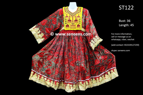 afghan clothes, gypsy ethnic frock