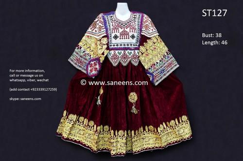 afghani dress, gypsy vintage apparels