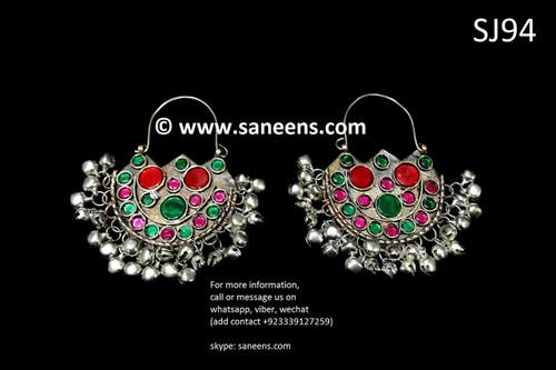 afghan jewelry, pashtun singer earrings