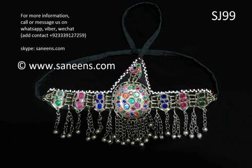 afghan jewelry, kuchi tribal headdress