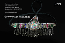 afghan jewelry, kuchi tribal headdress
