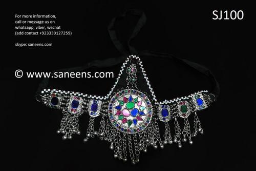 afghan jewelry, kuchi traditional headdress