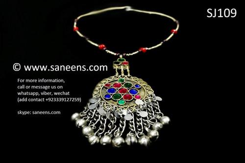 afghan jewelry, tribal fashion handmade necklace
