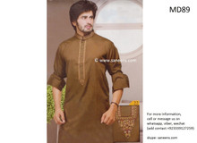 pashtun men dress in brown color, pakistani clothes