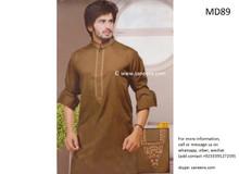 pashtun men dress in brown color, pakistani clothes
