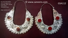 afghan jewelry, kuchi ethnic earrings