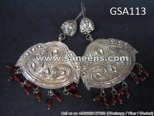 afghanistan nomad boho tribal earrings