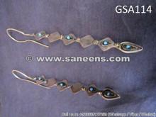 afghan muslim tribal long earrings