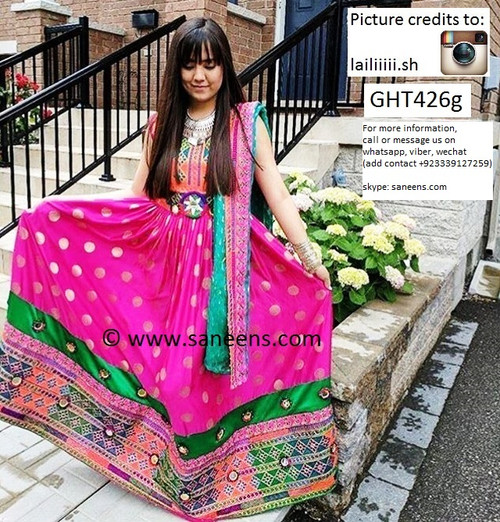 afghan clothes, pashtun bridal costume