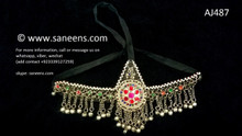 afghan jewelry, kuchi handmade headdress