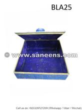 afghan lapis stone box