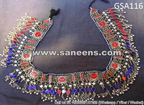 afghan jewelry, afghan kuchi ethnic belt