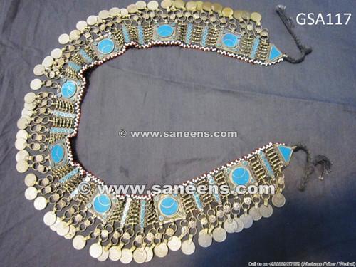afghan jewelry, kuchi jewellery belt