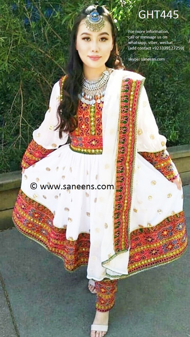 afghan clothes, pashtun model dress
