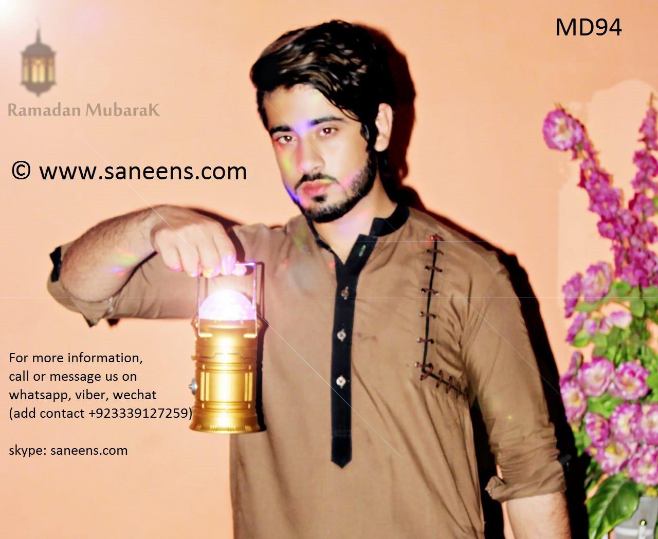 Pathan Men Clothing Pakistani Fashion Pashtun Singer Suit In Brown Color