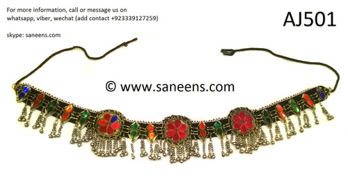 afghan jewelry, handmade tribal fashion belt