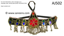 afghan jewelry, kuchi banjara headdress
