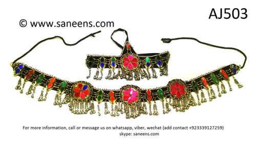 afghan kuchi jewelry set, pashtun singer jewellery