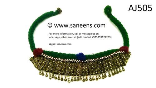 afghan ethnic jewelry, kuchi banjara necklace