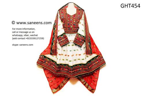 afghani dress, pashtun bridal clothes