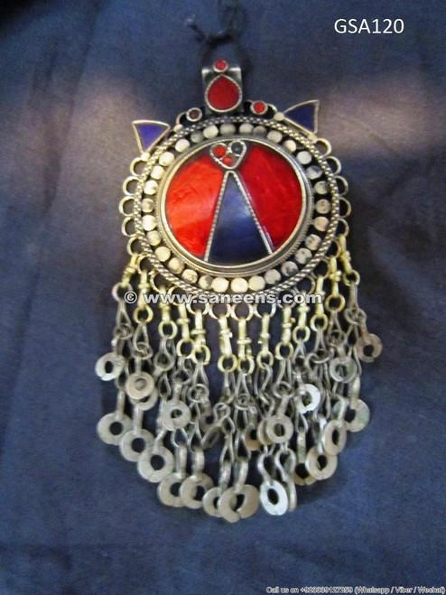 afghan ethnic jewelry tika pendant