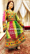 afghan clothes, islamic nikah frock, pashtun bridal dress