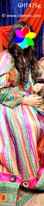 afghan gown, afghan clothes, pashtun bridal frock