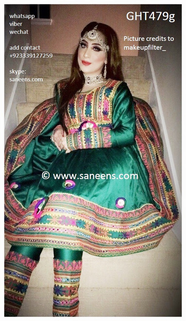 afghan gown, pashtun bridal long dress, hijab fashion