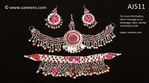 afghan jewelry set, pashtun bridal ornaments