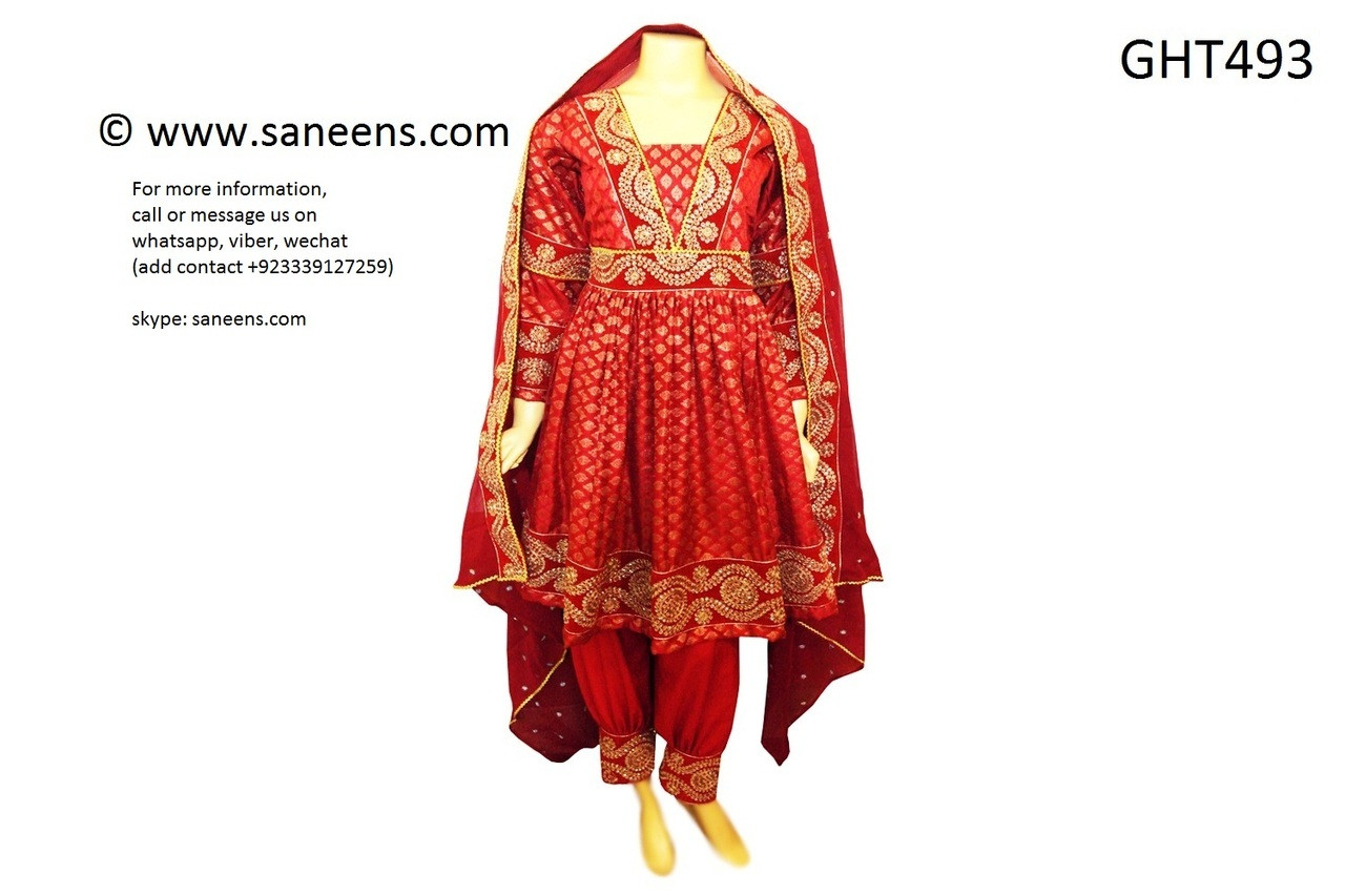 Pathani New Design Red Dress Buy Afghan Fashion Clothes Online