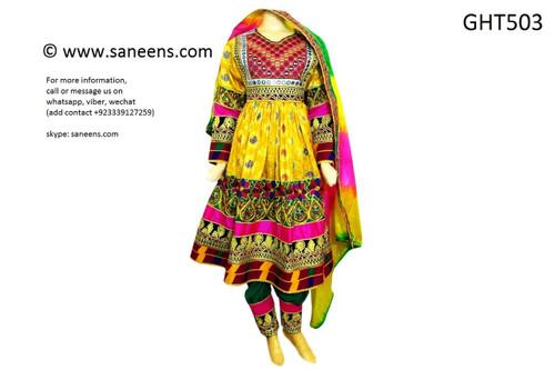 afghan clothes, pashtun yakhan dozi frock