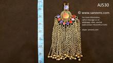 ethnic kuchi pendant, afghan jewelry