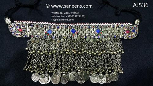 afghan jewelry, kuchi fashion vintage choker