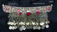 afghan jewelry, kuchi ethnic necklace