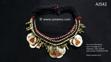 Ethnic Kuchi Necklaces Cairo Bellydance Wholesale 5 Chokers With Coins