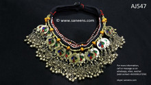 afghan jewelry, kuchi ethnic necklaces