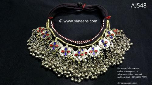 afghan jewelry, kuchi ethnic chokers