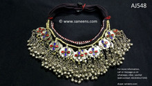 afghan jewelry, kuchi ethnic chokers