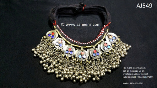 afghan jewelry, kuchi long necklaces