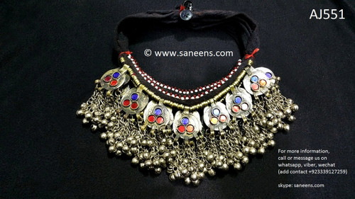 afghan jewelry necklaces, pashtun singer chokers