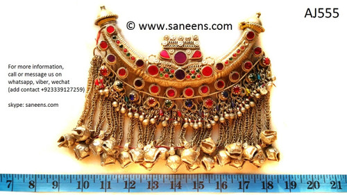 afghan jewelry, kuchi ethnic necklace