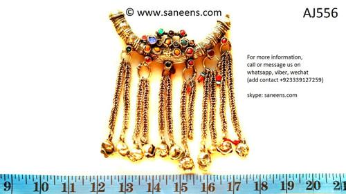 afghan jewelry, kuchi ethnic choker necklace